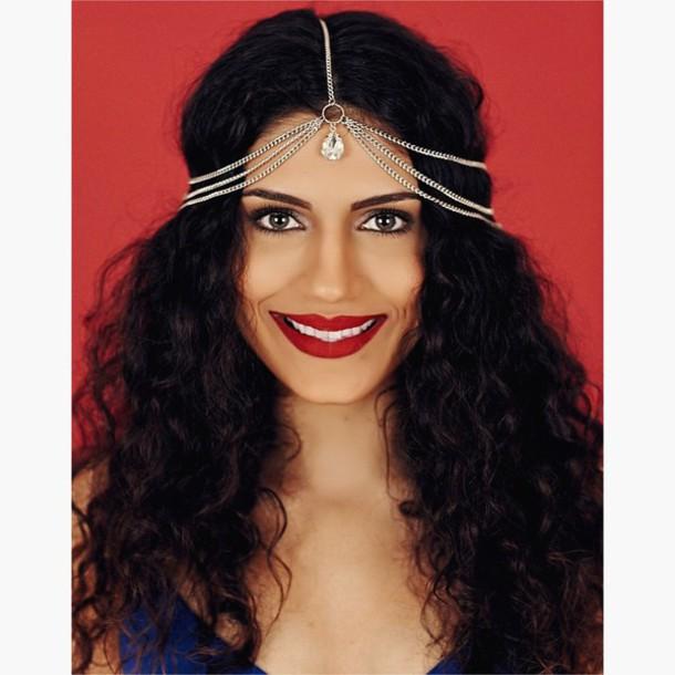 jewels head jewels hair chain gold hair chain cute hair chain
