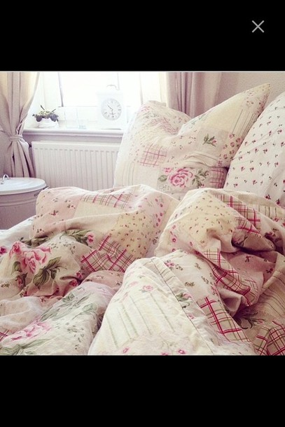 home accessory bedding flowers girly