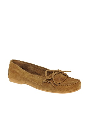 Asos fringed suede loafer shoes at asos