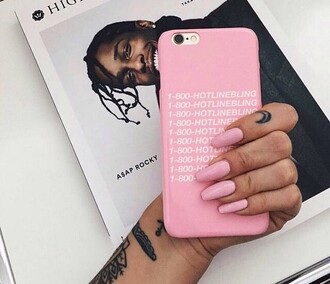 phone cover hotline bling iphone case iphone 6 case pink iphone cover iphone 6 cover iphone white drake