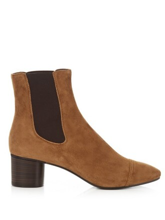 heel suede ankle boots boots ankle boots suede tan shoes