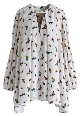 blouse nature buddies tunic in white chicwish floral white