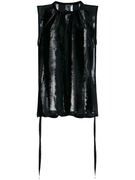 ANN DEMEULEMEESTER blouse sheer women black silk top