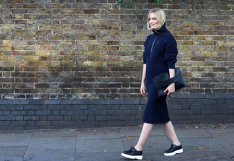 blame it on fashion blogger creepers pouch navy fall outfits