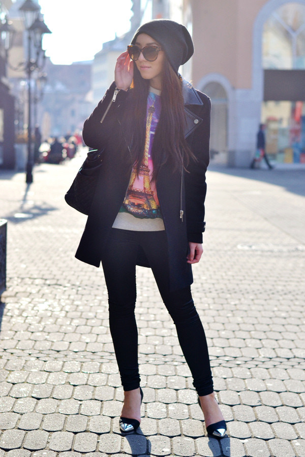 flirting with fashion coat sweater pants shoes bag sunglasses hat