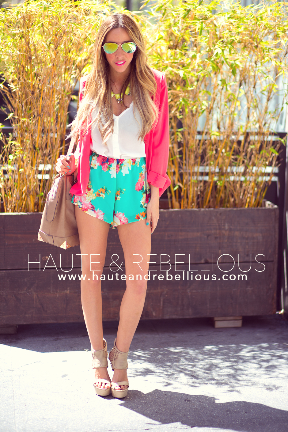 Haute & Rebellious Blog: FLORAL CHIFFON SHORTS