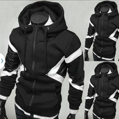 sweater,hoodie,black sweater,jacket,black,white,cotton