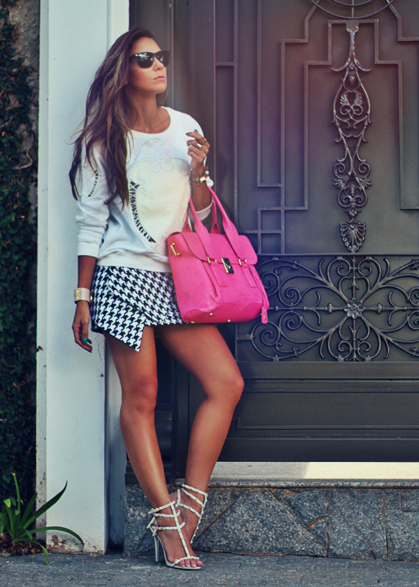 decor e salto alto sweater skirt jewels bag shoes sunglasses