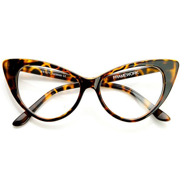 Twiggy cat eye retro clear frames in havana – flyjane