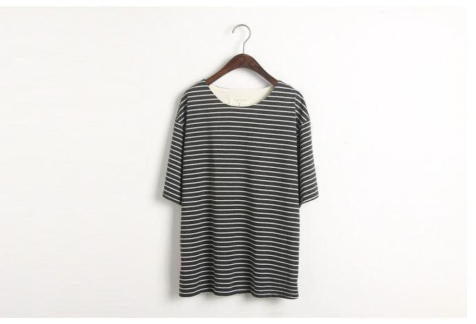 Striped oversized loose tee