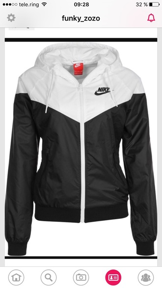 jacket nike nike windrunner nike windbreaker windrunner windbreaker black and white dress adidas jordans shoes heels outerwear sportswear gym nike black white swimwear
