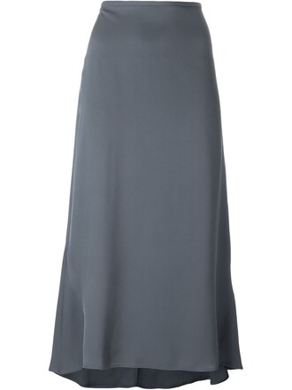 skirt maxi skirt maxi women blue silk
