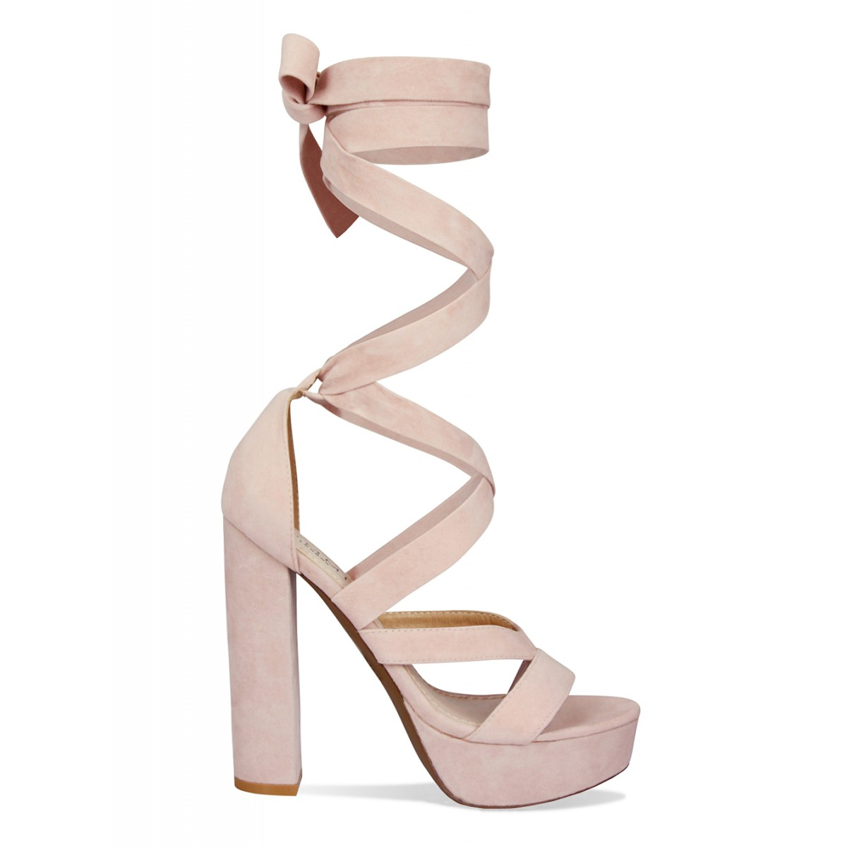 94199c29b3ad Amelia Nude Suede Lace Up Platform Heels   Simmi Shoes