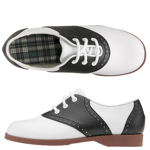 Willits Classic Saddle Oxford Black White Saddle Shoes Women