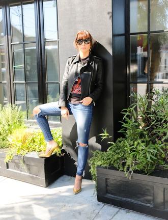 caradisclothed blogger jeans jacket sunglasses shoes