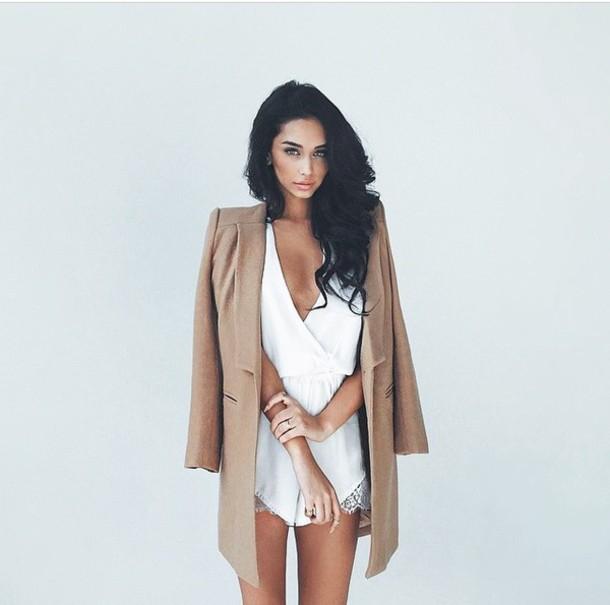 coat elegant brown class dress jacket