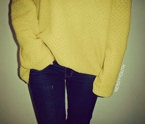 Mystery solid color sweater oversized by nerdyyouth on etsy