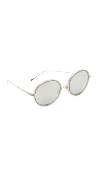 matte sunglasses mirrored sunglasses gold grey