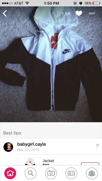 jacket nike black white nike windbreaker