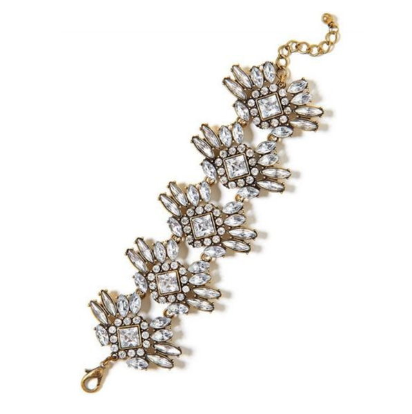 Antonia Crystal Wreath Bracelet