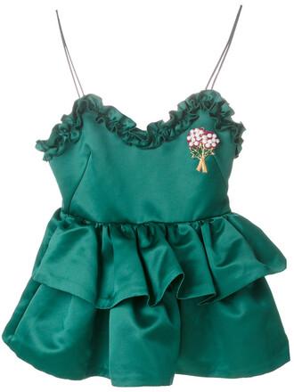 top embellished top women embellished green