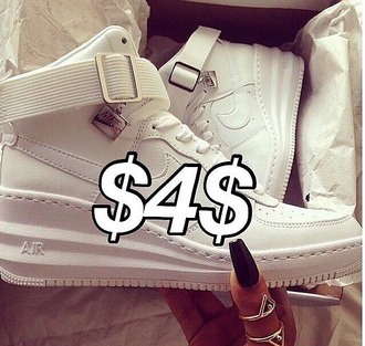 nike air nike sneakers nike air force 1 instagram tumblr outfit india westbrooks hightop nikes shoes white