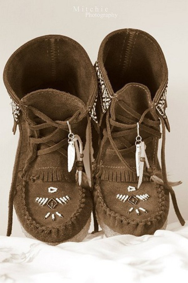 Shoes Boots Moccasin Boots Hippie Hippie Boots Indian Style Indian Boots Boho Boho Boots