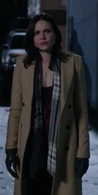 scarf regina mills lana parrilla once upon a time show camel coat