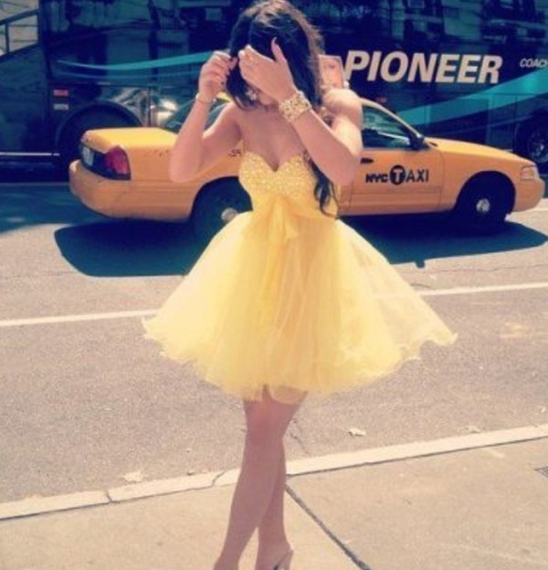 dress prom dress yellow dress tumblr formal dress