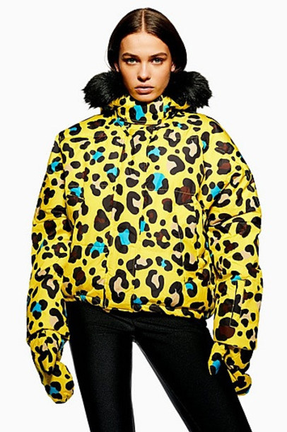 *Leopard Print Jacket by Topshop SNO - Yellow