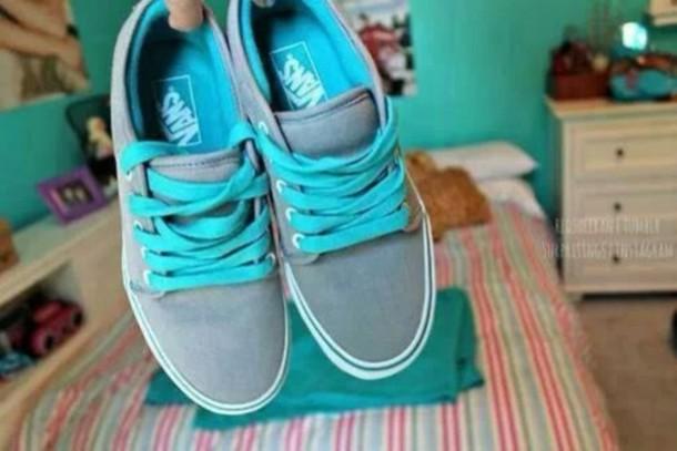 3aff7de3a754 shoes vans vans grey light blue blue vans