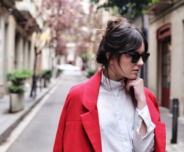 views by laura coat jeans shoes blouse bag sunglasses