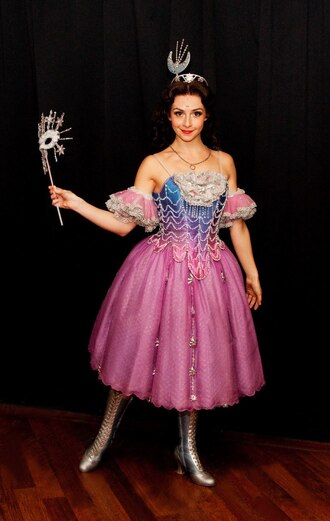 dress dip dyed star princess phantom of the opera stars pink purple blue