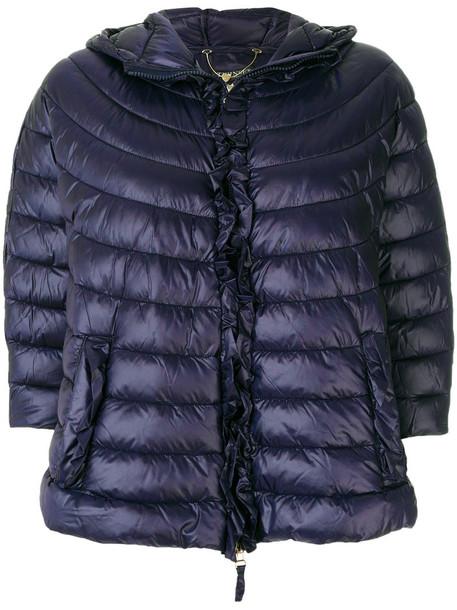Twin-Set jacket puffer jacket women fit blue