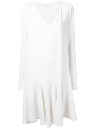 dress pleated dress pleated white