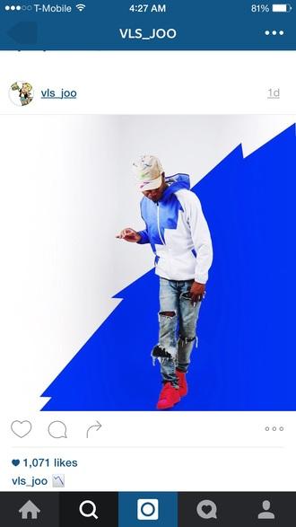 jacket blue and white