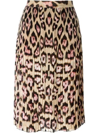 skirt print leopard print nude