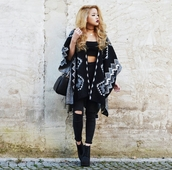 cardigan,kimono,cape,aztec,crop tops,knee hole jeans,black skinny jeans,jeans,clothes,ankle boots,hipster,style,stylish,trendy,boho chic,boho,boho hippie dress fashion,girly,cute,indie boho,indie,cool,tumblr outfit,tumblr clothes,tumblr girl,tumblr,streetstyle,streetwear,blogger,girl,edgy,casual,fashionista,chill,rad,instagram,pretty,knitwear,hair/makeup inspo,bag,on point clothing