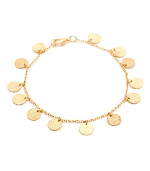 bracelet jewels gold chain disk circle mini