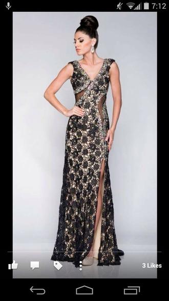 dress prom dress lace dress black dress glamgerous