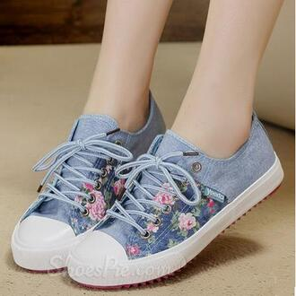 shoes canvas sneakers canvas shoes blue blue shoes blue sneakers floral floral shoes floral sneakers