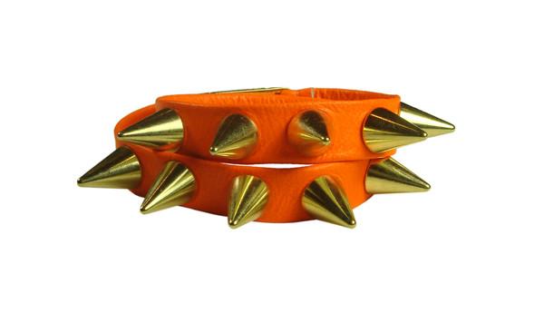 jewels leather neon bracelet neon orange leather wrap bracelets