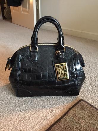 bag ralph lauren crocodille black bag high end style