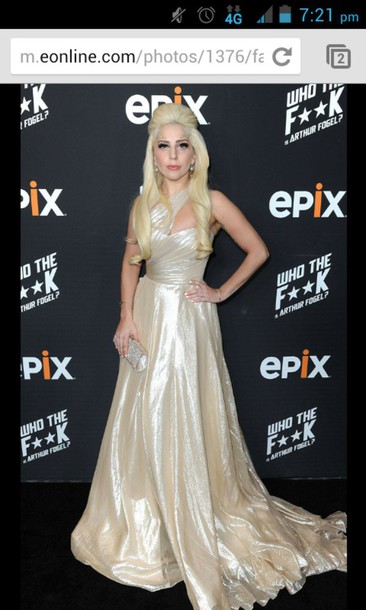 730b8f74cb10 lady gaga ball gown dress prom dress formal event outfit silk ball gown  dress grammys