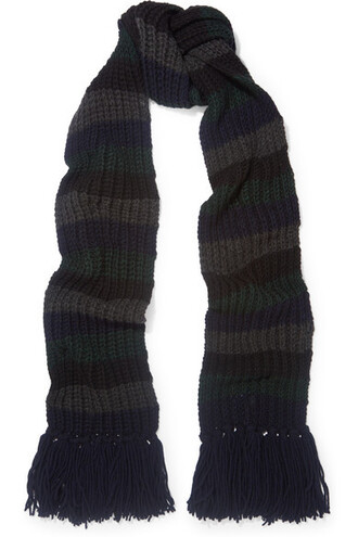 knit scarf charcoal