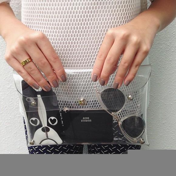 bag clutch clear see through