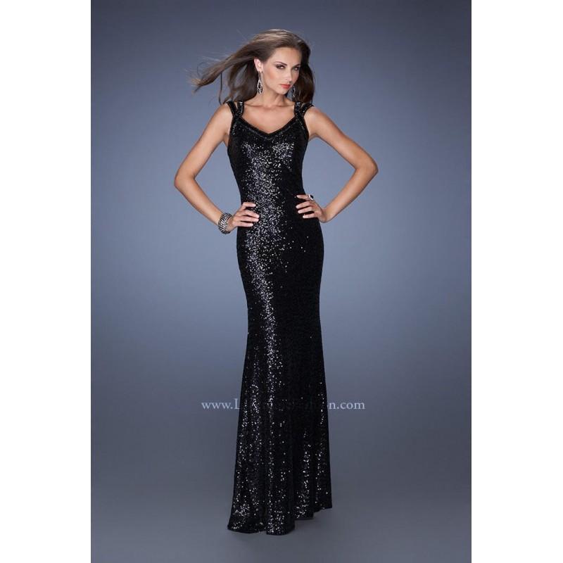 La Femme 19357 Black,Garnet Dress - The Unique Prom Store