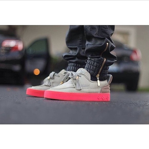 shoes sneakers pants louis vuitton kanye west rose pink