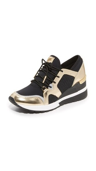 pale sneakers gold black shoes