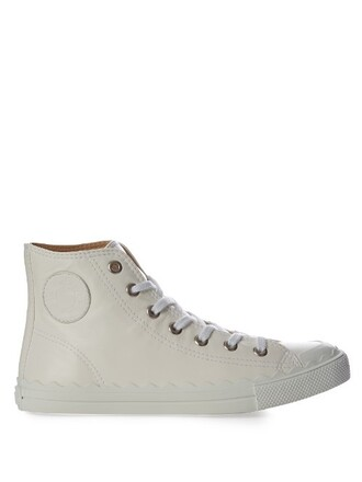 top high leather white
